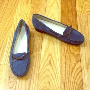 Talbots Pascal Blue Suede Loafers
